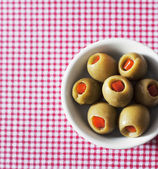 Green olives stuffed — Stock Photo