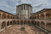 Back side of Assisi dome Italian Basilica of saint francis — Stock Photo