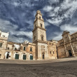 Baroque building and church view from Lecce, Italy - Stok fotoğraf