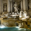 Rome night view of Fontandi Trevi fountain — Stock Photo #19007973