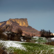 The flat stone mountain in Italy at sunset in winter time — Stock Photo #19008033