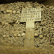 Stock Photo: Paris Catacombs Skulls and bones