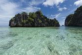Tropický ráj pláž oceán moře křišťálové vody jasné, písek — Stock fotografie