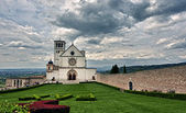 Assisi dome Italian Basilica of saint francis — Stock Photo