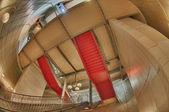 Interior metro metro de parís con ojo de pez y efecto hdr — Foto de Stock