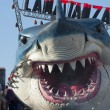 Viareggio Italy Carnival Show Band Wagon big Shark — Stock Photo