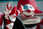 Viareggio Italy Carnival Show Burlamacco pulcinella style — Stock Photo