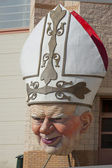 Pope John Paul II Viareggio Italy Carnival Mask — Stock Photo