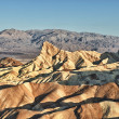 Zabriskie point death valley wonderfull sunrise — Stock Photo