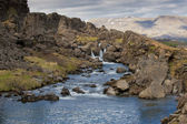 Pingvellir Iceland beatiful creek view — Stock Photo