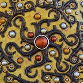 Orientalische patchwork arabische gold rot und silber — Stockfoto