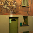 Dozza Bologna Italy mediaval building painted wall — Stock Photo