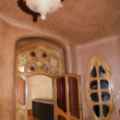 BARCELONA, SPAIN - 11 SEPTEMBER: Interior of Casa Batllo on September 11, 2009 in Barcelona, Spain. A building restored by great catalan architect Antoni Gaudi. - Stock Photo