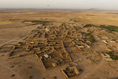 Maroc settlement in the desert near Marrakech aerial view — Stock Photo