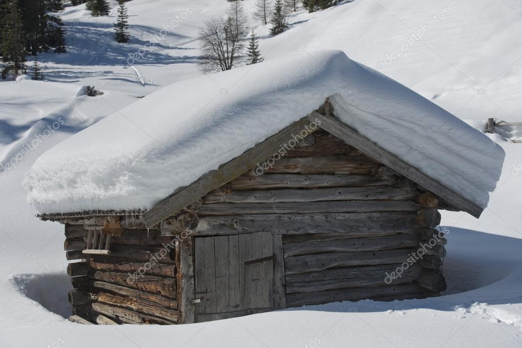 Casa Montagna Neve Casa Isolata Montagna di Legno