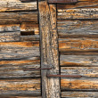 Old wood cabin house structure — Stock Photo