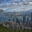 Hong Kong Panorama View from The Peak — Stock Photo
