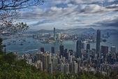 Hong Kong Panorama View from The Peak — Stock Photo