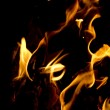 Stock Photo: Flames on black background