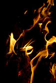 Flames on black background — Stock Photo