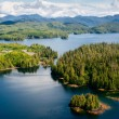 Alaska Prince of Wales island Ketchikan Aerial view — Stock Photo #22963186