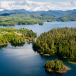 Alaska Prince of Wales island Ketchikan Aerial view — Stock Photo