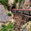 Yukon Gold Rush White Pass old Train Skagway Alaska - Stock Photo