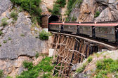 Yukon Gold Rush White Pass old Train Skagway Alaska — Stock Photo