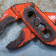 Stock Photo: Hard used old red pincers