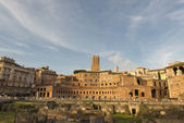 Rome antique market place near imperial forums — Stock Photo