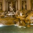 Rome Fountain di trevi night view — Stock Photo