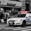 Stock Photo: NYPD Police Car in New York action scene