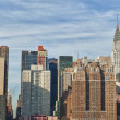 New York Manhattan view from East River - Stock Photo