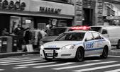 NYPD Police Car in New York action scene — Stock Photo