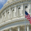 Washington DC Capital detail with american flag — Stock Photo #24955805