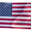 Usa American flag stars and stripes on the white background — Stock Photo