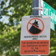 Neighborhood watch area sign in Washington East Capitol  — Stock Photo