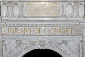 Biblioteca nacional de washington da entrada do congresso — Foto Stock