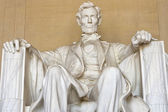 Abraham Lincoln statue at Washington DC Memorial — Stock Photo