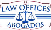 Law Offices Abogados sign — Stock Photo