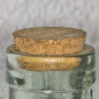 Stock Photo: Cork top stopper cap on glass bottle