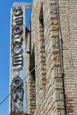Georgetown scraped sign in Washington DC — Stock Photo