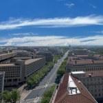 Washington DC aerial view — Stock Photo