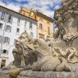 Stock Photo: Rome pantheon place fountain