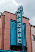Anchorage 5th avenue sign — Stock Photo