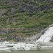 Stock Photo: Juneau Mendenhall glacier waterfall