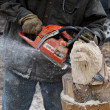 Stock Photo: Electric Saw bear head sculpture