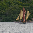 Polynesia sail boat — Stock Photo