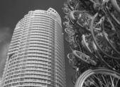 Toronto bicycle tower — Stock Photo