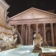 Rome pantheon place fountain — Stock Photo